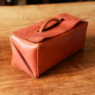 Handstitched Italian Leather Toiletry Bag, Traveller Dopp kit
