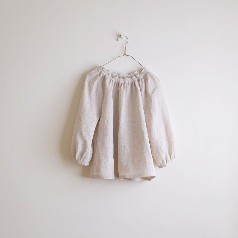 Daily hand made service puff sleeve elastic blouse gentle pocket vest dress linen special