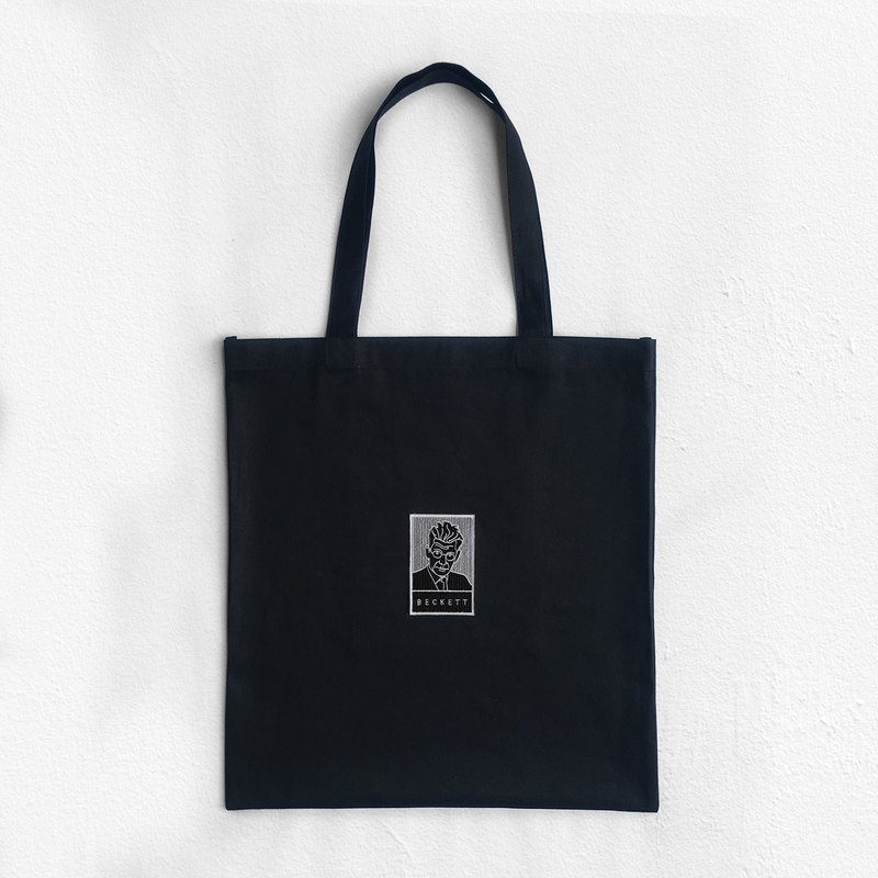 BECKETT (Embroidery portrait) : Tote Bag