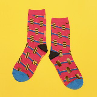 Towers Magenta Unisex Crew Socks | mens socks | womens socks | colorful socks