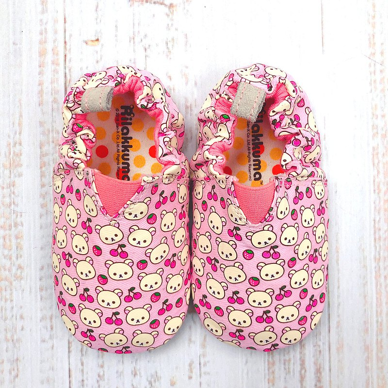 JplusJ x Rilakkuma Cherry Pink Baby Shoes