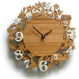 It's My Forest Clock Bamboo with Ivory Acrylic Numbers