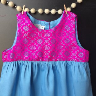 Arabesque print baby cotton romper