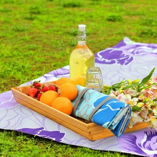 Nuhox roar lion [box mat] romantic purple picnic - picnic mat, camp pad and furnishings pad