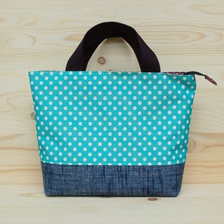 Nylon waterproof tote bag / zipper + compartment