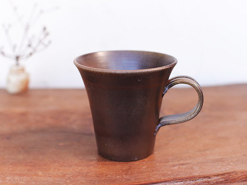 Bizen ware coffee cup (large) c5-095