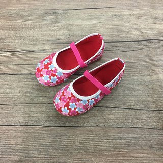 Baby shoes cherry red