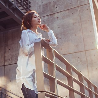 [MACACA] Cotton Button Light Long Shirt - BSE3312 White