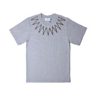 oqLiq - Display in the lost - Snow shank shine string T (gray)