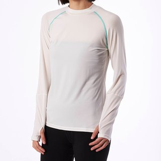 Copper Ammonia Long Sleeve Tee - White