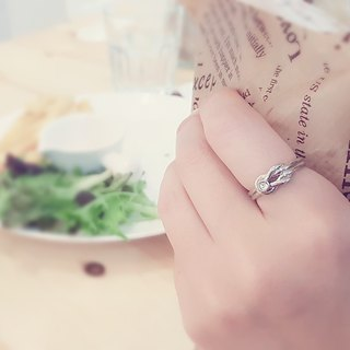 Belle blossoming knot <single ring> male models female neutral ring ring opening ring white steel ring