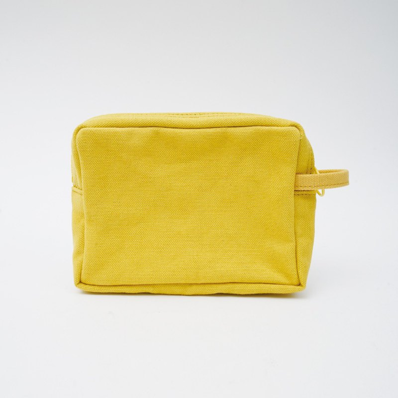 Mushroom MOGU / canvas storage bag / lemon yellow / Bu Bu bear