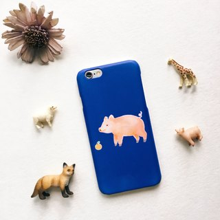 Zoo series piglet blue matte matte phone hard shell