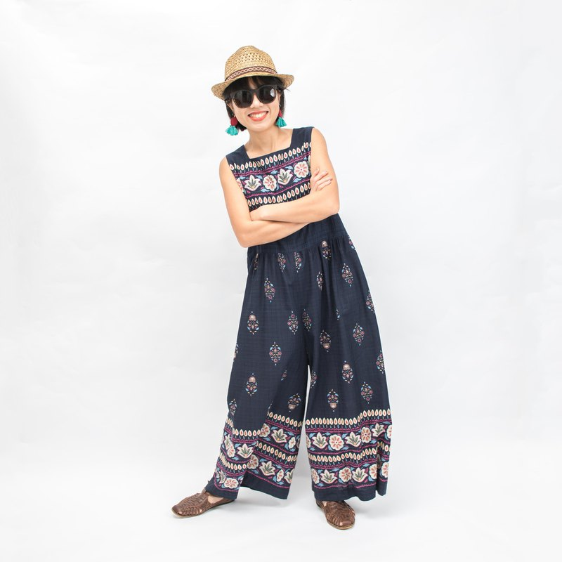 MATÍAS Wide-Leg Jumpsuit - Ethnic Blue