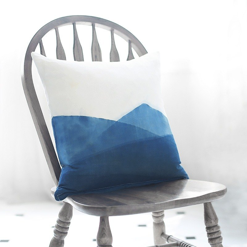Indigo Throw Pillow, Single side pattern, Decorative Pillow, Tie Dye, Pillow