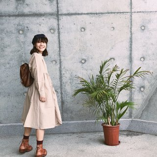 Dual-use shirt dress | beige