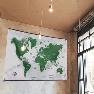 Customized world map hanging wall niches soul scholar