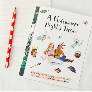 7321 pure fairy tale striped notebook - Midsummer Night's Dream, 73D04818