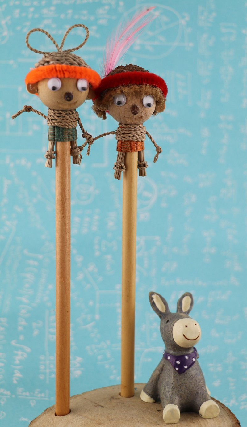 A set of two dolls pencil