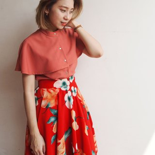 Story protagonist - vintage short cloak top / orange orange