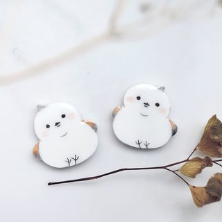 Fat doodle snow elf small tits handmade earrings anti-allergic ear acupuncture painless ear clip