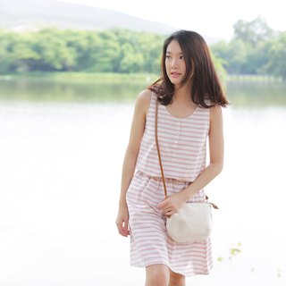 Crossbody Bags mini Curve Hand woven Cotton Natural Color