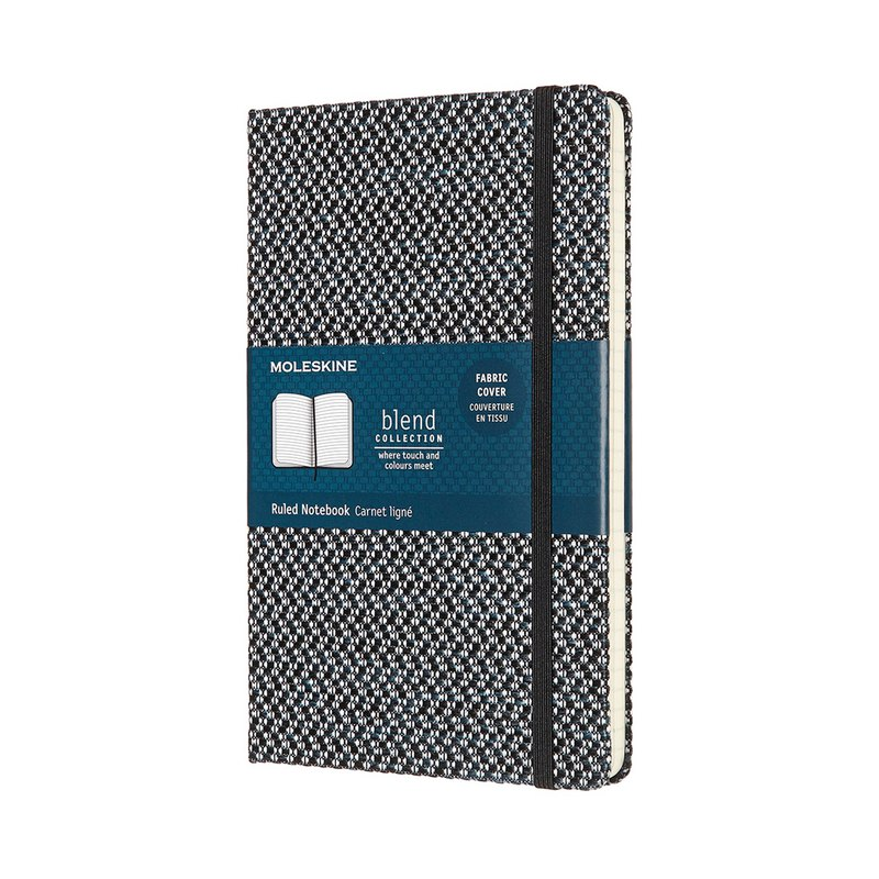 MOLESKINE BLEND woven series notebook L-shaped horizontal line - black