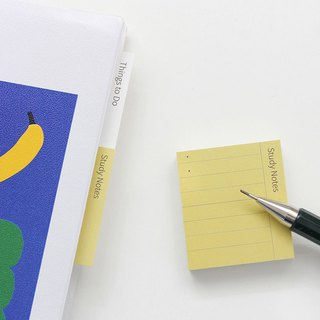 GMZ pastel square crisp index post-it notes -09 study notes (yellow), GMZ07228