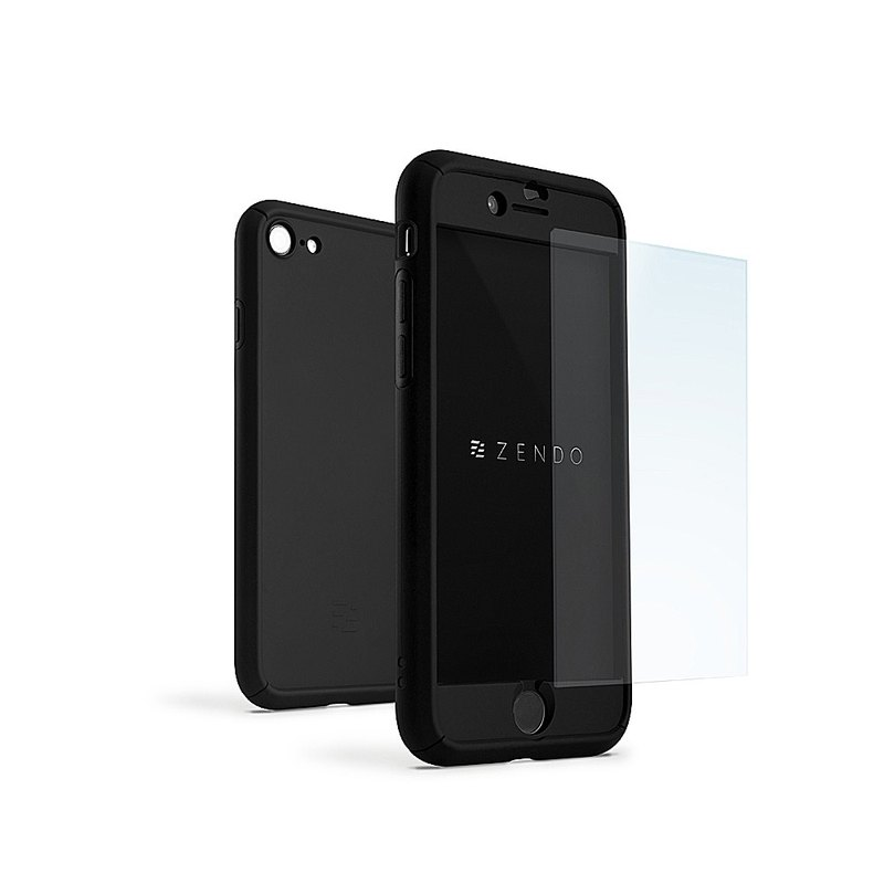 ZENDO iPhone 7 special NanoSkin FreeFall machine-wide protective shell - black (4589903520250)
