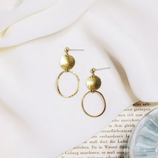 String series brass knock earrings ear clip ear clip without pierced ears
