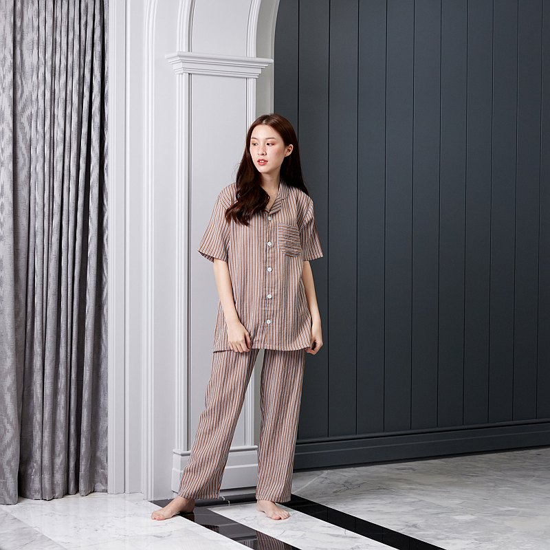 Linen Pajamas Short sleeve with Pants