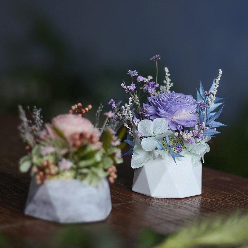 花蠟燭/石膏擴香小桌花 蠟燭/客製香氛蠟燭花禮/乾燥花桌花