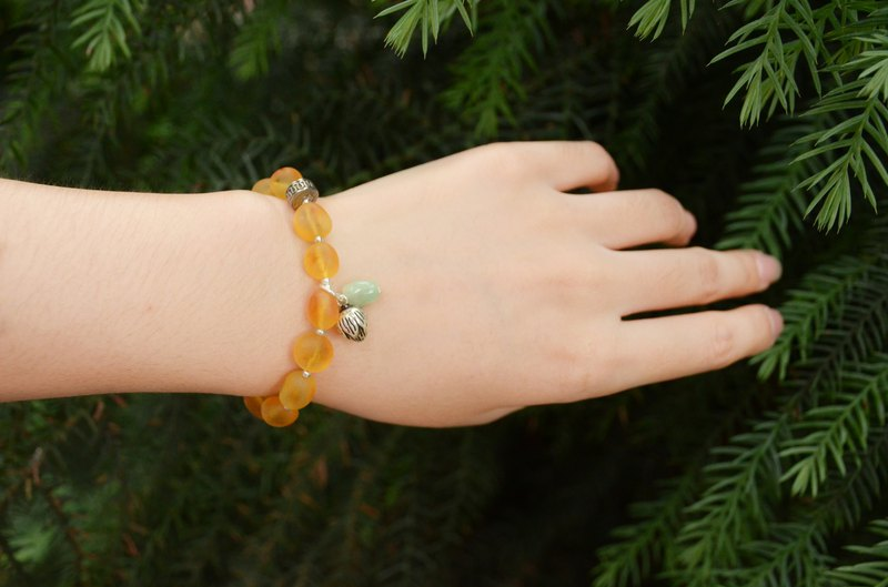 [晨晨]Amber natural amber rough with beads bracelet bracelet