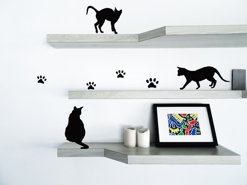 Cat style stickers stickers stickers cat Stickers wall stickers / switch stickers / wall decoration