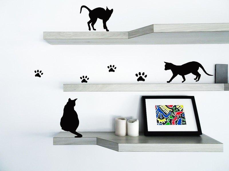 貓咪造型貼貼紙貼紙包cat Stickers牆貼/開關貼/牆面裝飾