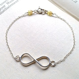 Unlimited, Yellow Sapphire, Sterling silver bracelet