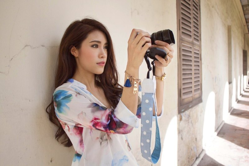 Blue Polkadot Mirrorless or DSLR Camera Strap