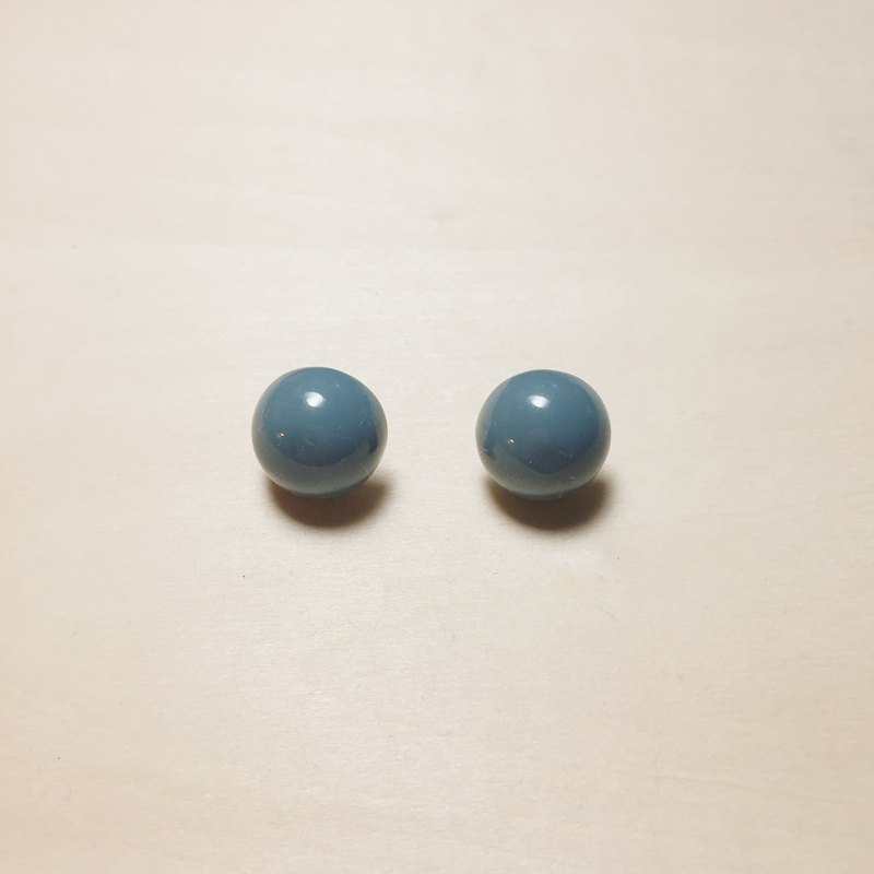 Vintage blue and green small balls earrings