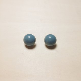 [E1033] Vintage blue and green small ball earrings