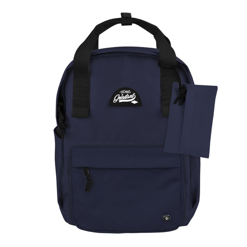 Grinstant混搭可拆組式13吋後背包 - 冒險系列 (深藍色)