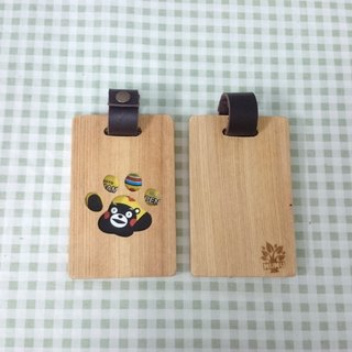 Wooden ticket holder - cat's paw