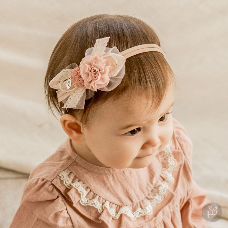 Happy Prince Korean Espoir Ribbon Lace Flower Baby Girl Hair Band