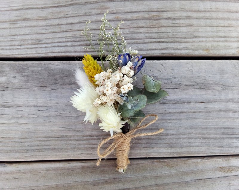 Dawn ||Dry flower brooch dry flowers without boutonniere outside wedding