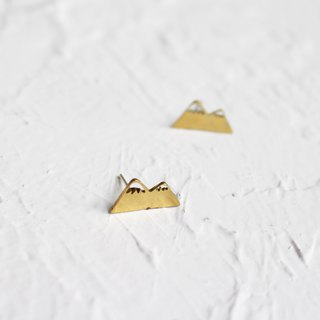Snow mountain hammered brass earrings I Story_Snow mountain