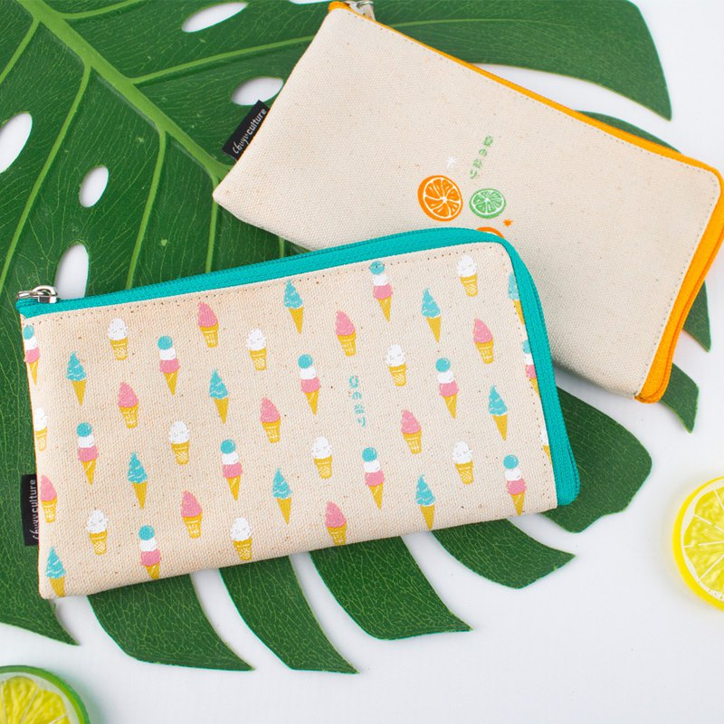 L-shaped zipper storage bag / storage / zipper bag / small bag - summer wind