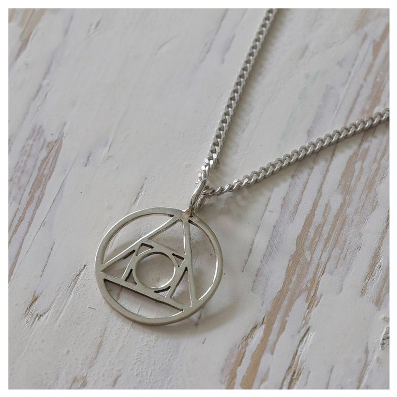 Alchemy Symbol  silver Pendant Necklace handmade tiny gift her
