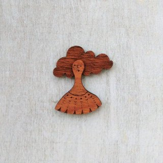 Wind · mahogany brooch