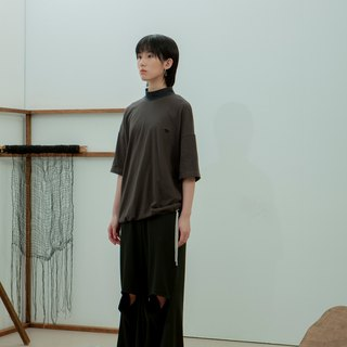 TRAN - Embroidered Neutral Tee