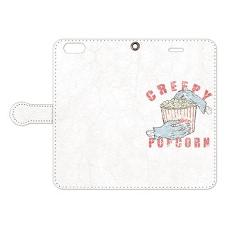 Handbook type iPhone case / Creepy Popcorn