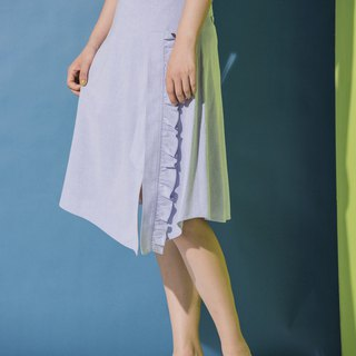 Lotus leaf long A-line skirt